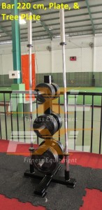 Olympic Bar 220 cm with plates & tree plate