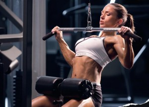 wide grip lat-pull-down