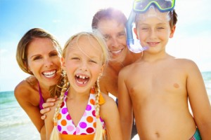 happy-family-local-beach-vacation