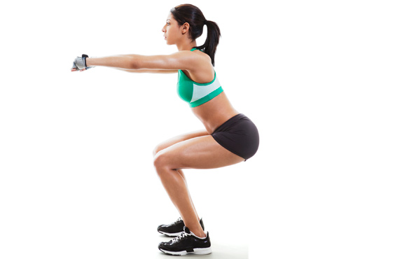 Squats without equipment