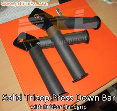 Solid Tricep Press Down Bar with rubber handgrip